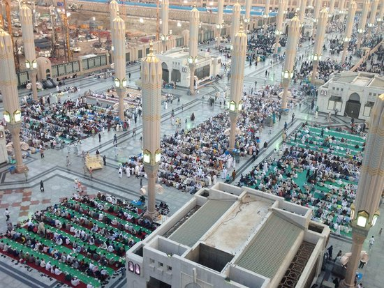 Madina Oberoi: Visitors waiting for iftar.