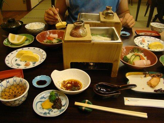 Nishiyama Ryokan : Tipico pasto tradizionale servito in hotel