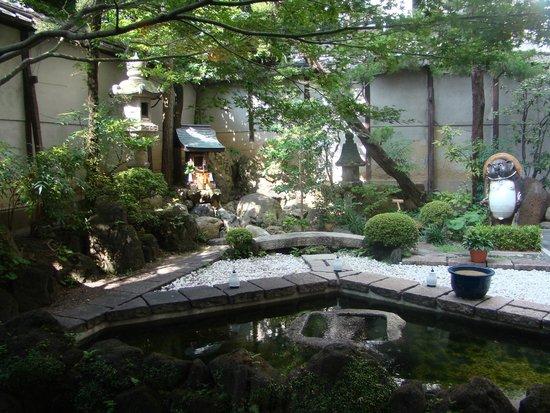 Nishiyama Ryokan : Vista sul giardino