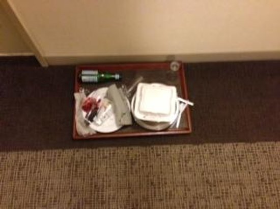 Westin Charlotte: Room Service food left in hall