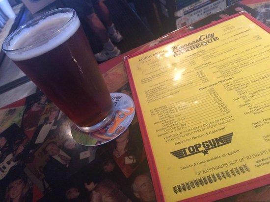 Kansas City Barbeque: Great menu