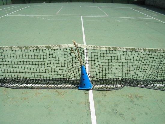 Villaggio Turistico Parco Elena: Campo da tennis con rete in malora