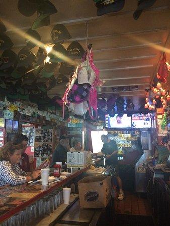 Kansas City Barbeque: The bar inside