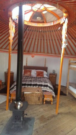 The Eagle Yurt Inside Picture Of Great Glen Yurts Fort William Tripadvisor Occasionally yurt owners will choose to put their bathroom in a second attached or detached yurt or heating and cooling heating a yurt is most often accomplished with a wood or gas stove vented. the eagle yurt inside picture of