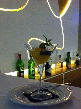 Restaurant Zafferano : Tantalizing mandarin sorbet laced with Belvedere vodka…heaven in a glass!