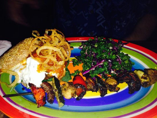 Yemanja Woodfired Grill: Yummy Yemanja Veggie Burger