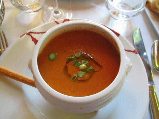 Le Grand Cafe Capucines: Gazpacho with espelette