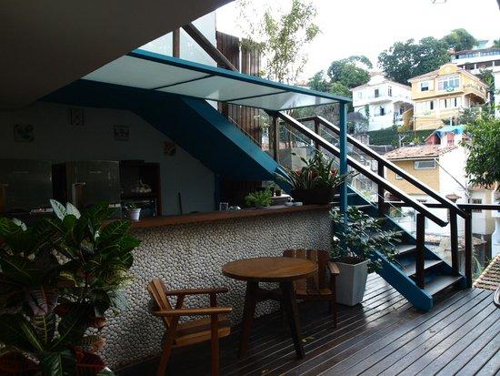 Quinta Azul Boutique Pousada: Hier geht's zum Frühstück