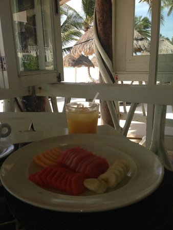 Villa Las Estrellas: every morning the greatest coffee in the world with fresh squeezed OJ, plate full of fruit, home