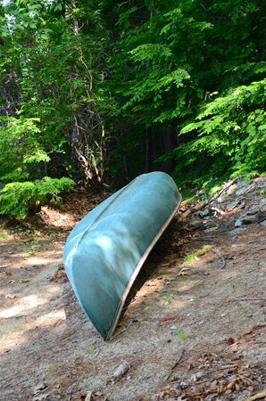 Meadow Farm Bed and Breakfast: Canoe available for use at the lake