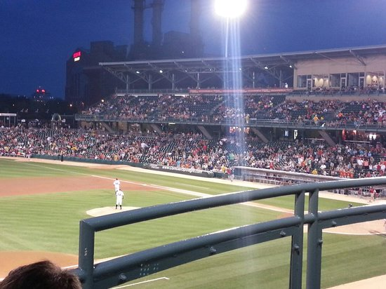 Victory Field: Beautiful at night.