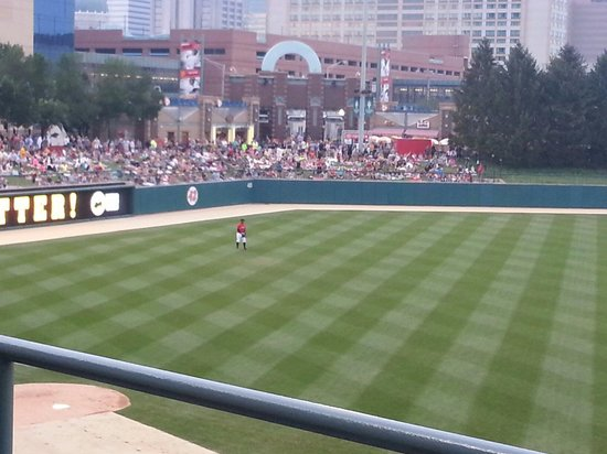 Victory Field: Great lawn seating.