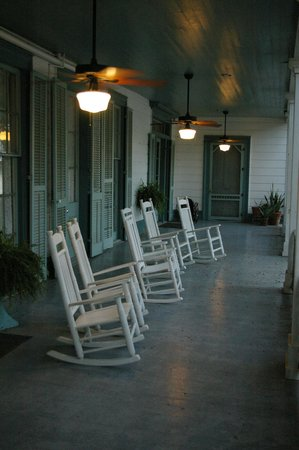 The Myrtles Plantation: back porch