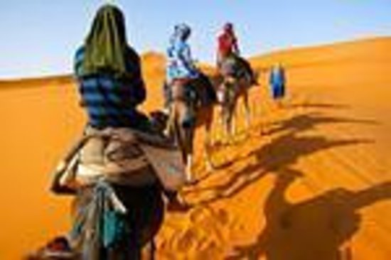 Camel trekking to the Merzouga Camp