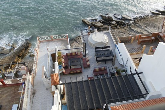 Dfrost Almugar Surf House Taghazout: The surf house view from the roof terrace