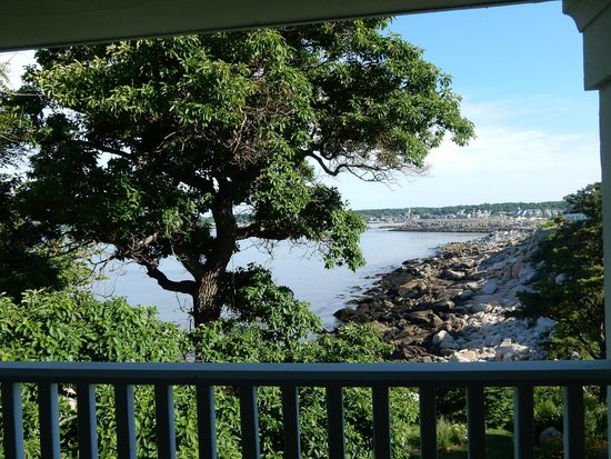 Yankee Clipper Inn: view from the private deck of the flying cloud