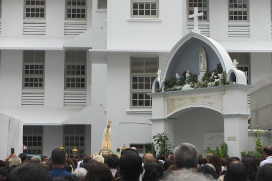 St Joseph's Church : Lady of Fatima Procession, after Mass on 13th of Month