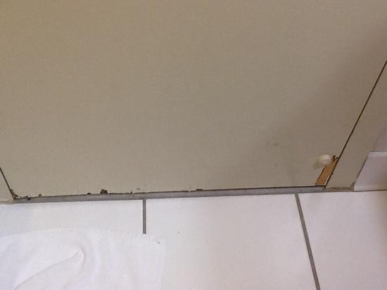 DoubleTree by Hilton Hotel Pittsburgh-Green Tree: bathroom dooor...ewww