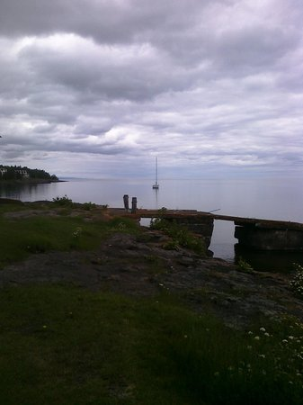 Bluefin Bay on Lake Superior: The view from my lawn chair outside my room!