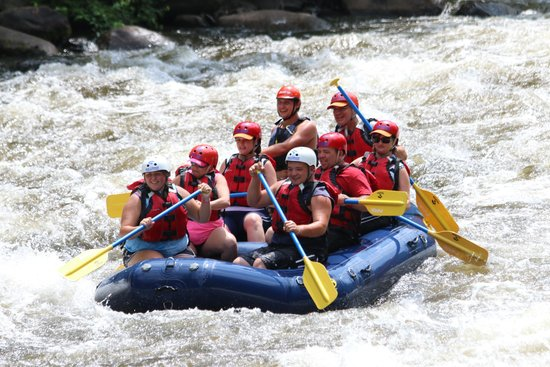 Big Creek Expeditions: Still in the raft!