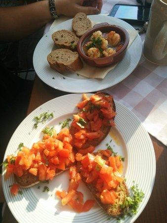 Gasthaus an der Mauermühle: Fränkisches Brucetta mit Garnelen in Chilli