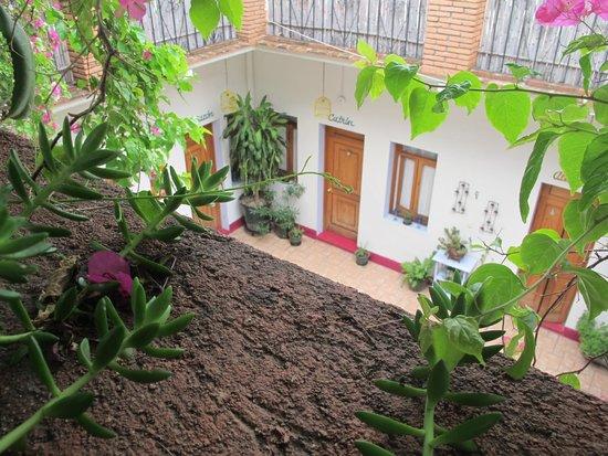 El Diablo y la Sandia Libres : Vista de la terraza al patio central