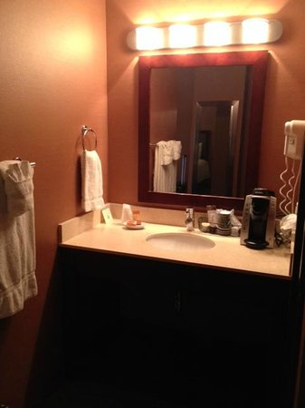 Eureka Casino Resort: Vanity is nicely separated from bathroom and main room