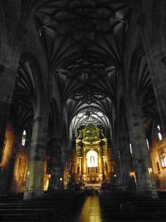 Basilica of Begona: inside - very dark only got one photo