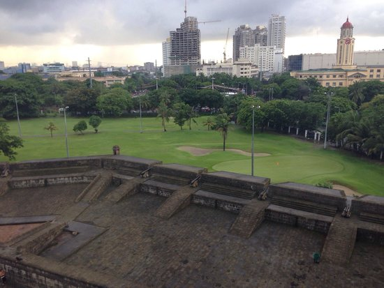 The Bayleaf Intramuros : View from our room which was facing East over the Golf course.