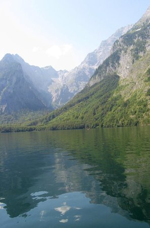 BEST WESTERN PLUS Berghotel Rehlegg: Königssee, taken from the boat ride to St. Bartholomä Church