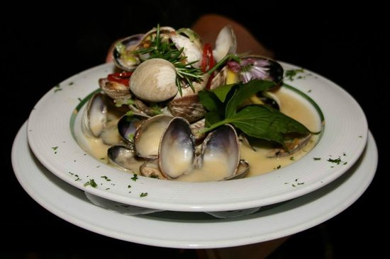 Harbour Grill: Fresh locally harvested clams in a white wine cream sauce