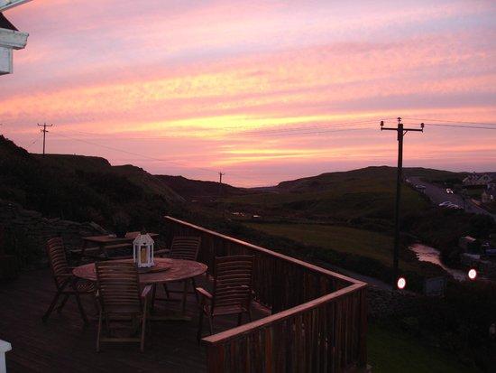Sea View House Doolin : Evening sunset