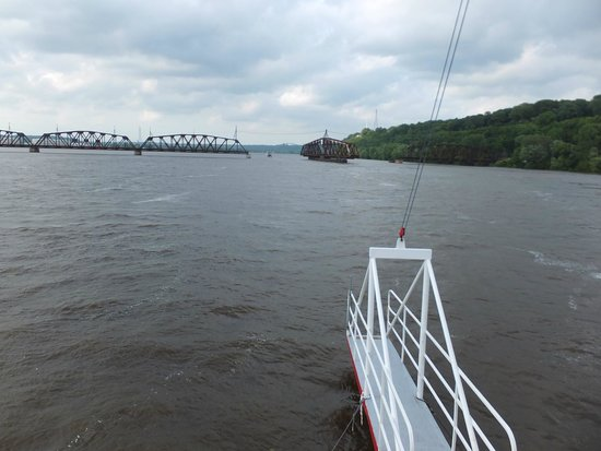 Dubuque River Rides : View fro the top level of the boot.