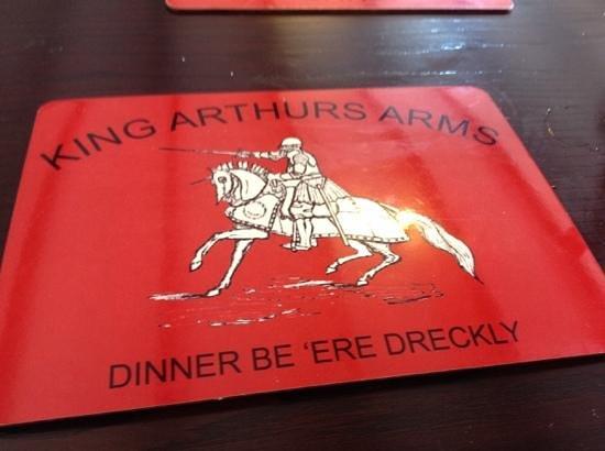 King Arthur's Arms Inn: ...even their mats are fun!