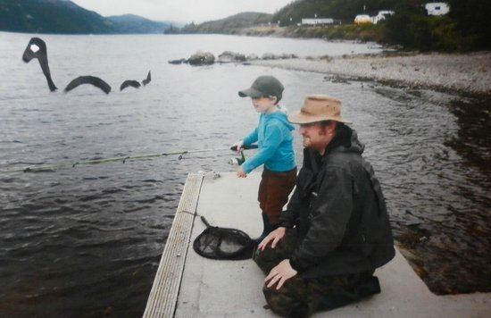 Loch Ness Highland Lodges: He was so busy fishing he didn't spot who was watching :-)