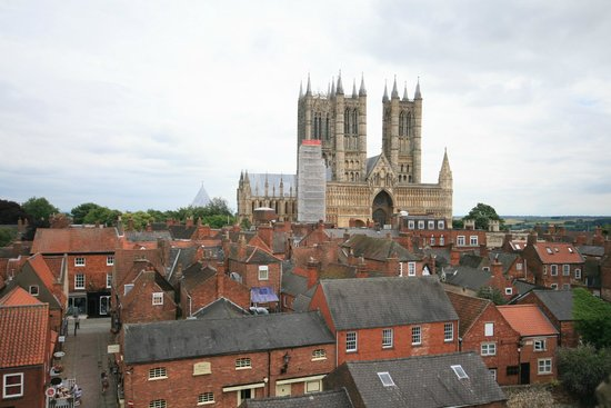 Lincoln Castle: View of the Cathedral from the castle walls