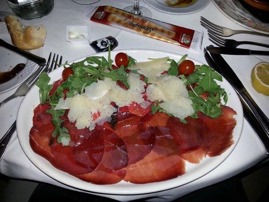 Restaurante Valparaiso: The carpaccio & bresola