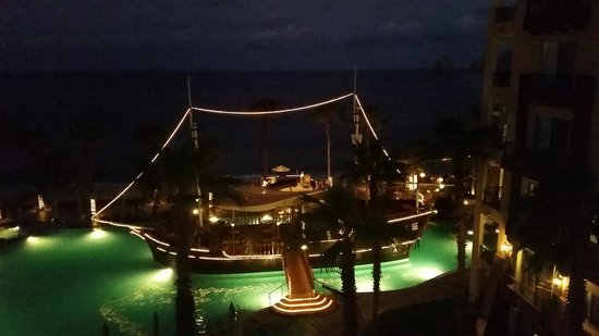 Villa del Arco Beach Resort & Spa: This is the pirate ship in the pool at night.