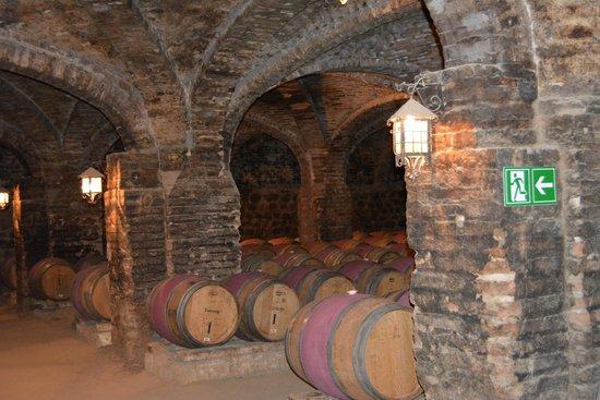 Santa Rita Winery: wine barrels