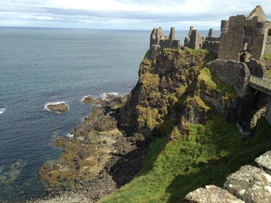 Dunluce Castle: bathed in sunlight