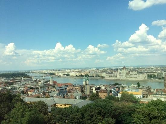 Hilton Budapest - Castle District: Parliament building across the Danube. View from the third floor.
