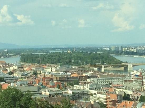 Hilton Budapest - Castle District: Third floor view of Danube and island.