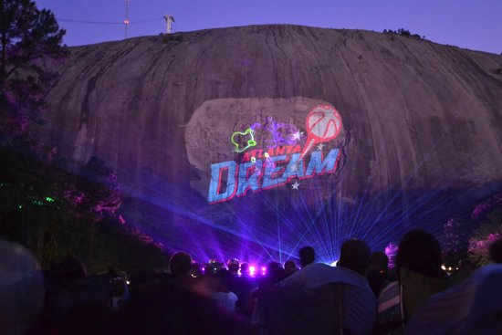 The Lasershow Spectacular in Mountainvision is a show that is projected on the side of Stone Mountain in Stone Mountain Park. Since it's debut in , the show has received several updates. The introduction of Mountainvision in allowed for 3D like affects to be added to the show without wearing 3D glasses.