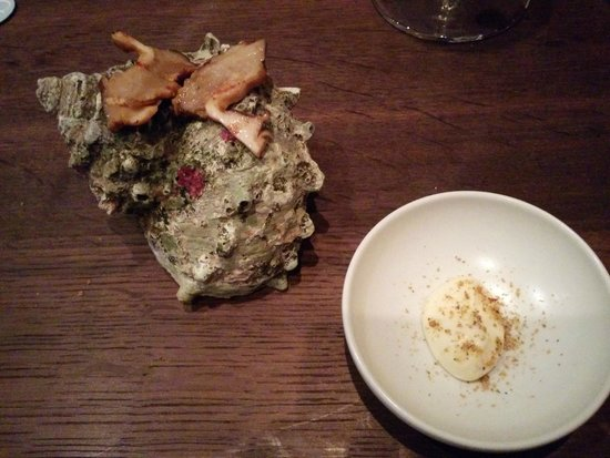 Benu: Spiny Conch, Sesame, Mayonnaise