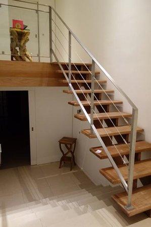 La Toubana Hotel & Spa: escalier pour rejoindre la chambre du haut