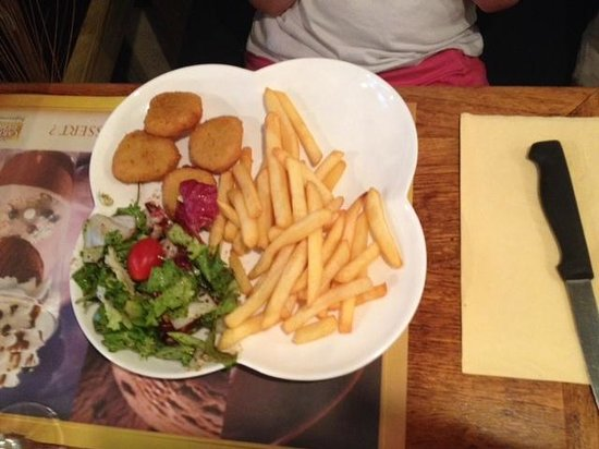 La Piazza : Menu enfants nuggets - frites