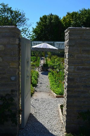 Looking into the walled vegetable garden