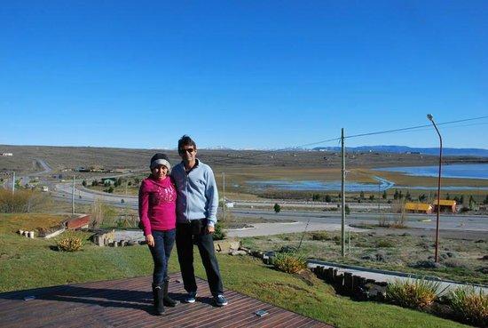 Imago Hotel & Spa: nosotros con el paisaje de fondo