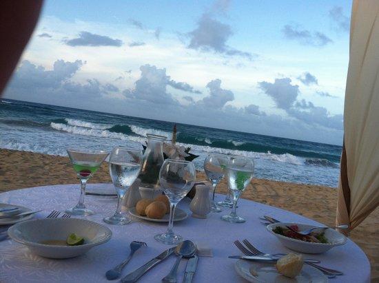 Excellence Punta Cana: Dinner on the beach
