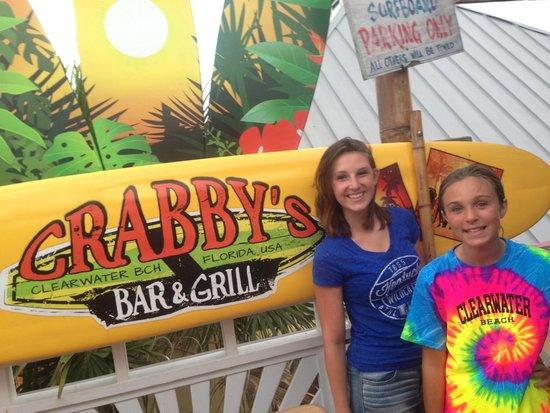 Crabby's Beachwalk Bar & Grill: Bellies are full